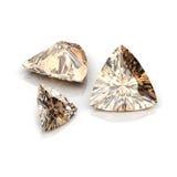 Corte trilliant dos diamantes de champagne Imagens de Stock