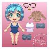 Corte vestem acima a boneca de papel Imagem de Stock