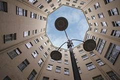 Corte yard-well1 Fotografia Stock Libera da Diritti