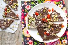 Corteccia casalinga del cioccolato Fotografie Stock