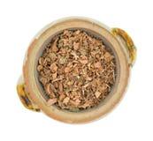 Corteccia del hamamelis in una piccola ciotola Fotografie Stock