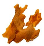 Corteccia di pino incrinata isolata su fondo bianco, manip della foto Fotografia Stock