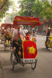 Cortege Engagement. In Vietnam, tradition dictates that the groom's family goes officially submit the application for marriage to the family of the bride bearing Royalty Free Stock Image