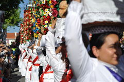 Cortejo-Direktion, Festa DOS Tabuleiros lizenzfreie stockfotografie