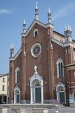 Cortemaggiore, историческая церковь Стоковое Изображение RF