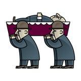 Corteo funebre illustrazione di stock