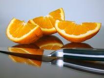 Cortes anaranjados Fotografía de archivo