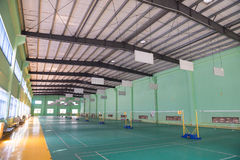 Cortes de badminton internas foto de stock royalty free