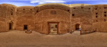 Cortes de Jabrin imagen de archivo libre de regalías