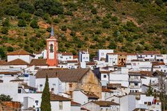 Cortes DE La Frontera, Malaga Provincie, Andalusia, Spanje, Westelijk Europa stock afbeelding