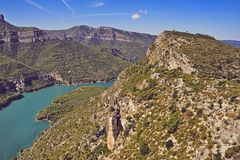 Cortes de Pallas in Valencia. Reservoir of Cortes de Pallas in Valencia Stock Photo