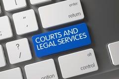 Cortes e chave dos serviços jurídicos 3d Foto de Stock Royalty Free