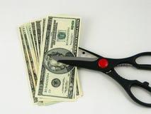Cortes em o orçamento e impostos fotografia de stock royalty free