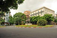 Cortes Hernan πλατεία, Caceres, Εστρεμαδούρα, Ισπανία Στοκ φωτογραφία με δικαίωμα ελεύθερης χρήσης