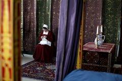 Cortesano en el castillo de Stirling Imagenes de archivo