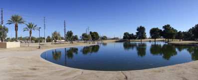 Cortez Park Lake, Phoenix, AZ Fotografia de Stock