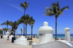 Cortez Street Beach Entrance Stock Image