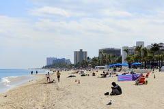 Cortez Street Beach People, pie Lauderdale Fotos de archivo libres de regalías