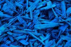 Corteza decorativa coloreada azul del pajote Imagen de archivo