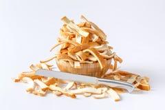 Corteza del pan cortada Fotos de archivo libres de regalías