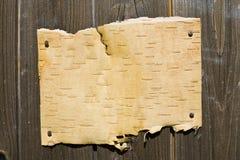 Corteza en fondo de madera Imágenes de archivo libres de regalías