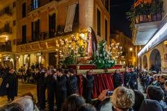 Cortège de Pâques dans Alcudia Photos stock