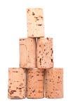 Cortiça da garrafa - pirâmide Fotos de Stock