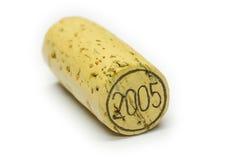 Cortiça de 2005 vinhos Fotografia de Stock Royalty Free