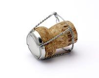 Cortiça dof raso de Champagne com trajeto de grampeamento Fotografia de Stock Royalty Free