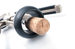 Cortiça e Corkscrew Imagens de Stock