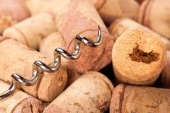 Cortiça e corkscrew Imagem de Stock Royalty Free