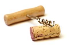 Cortiça e corkscrew Foto de Stock