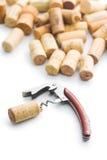 Cortiça e corkscrew Foto de Stock Royalty Free