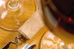 Cortiça no corkscrew Foto de Stock Royalty Free