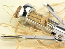 Cortiça no corkscrew Fotografia de Stock Royalty Free