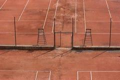 Corti di tennis - vista da sopra Immagine Stock Libera da Diritti