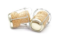 Cortical champagne corks Stock Images