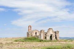 Cortijo abandonado y arruinado en Toscana Fotos de archivo