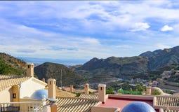 Взгляд от Cortijo Cabrera к Средиземному морю Стоковые Изображения