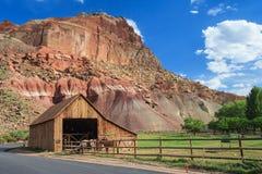Cortijo de Gifford en el parque nacional Utah los E.E.U.U. del filón del capitolio foto de archivo libre de regalías