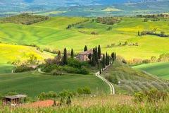 Cortijo en Toscana Foto de archivo libre de regalías