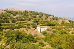 Cortijo - Montalcino Imagenes de archivo