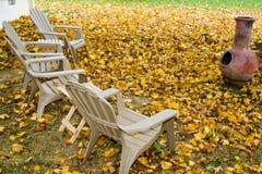 Cortile in autunno Fotografia Stock