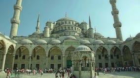 Cortile blu Costantinopoli della moschea Immagine Stock