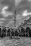 Cortile blu della moschea, Costantinopoli Fotografia Stock