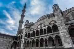 Cortile blu della moschea, Costantinopoli Fotografie Stock