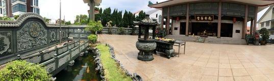 Cortile cinese del tempio - giardino di zen Immagini Stock Libere da Diritti