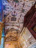 cortile con Putto in Palazzo Vecchio, Firenze immagine stock libera da diritti