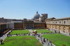 Cortile dei musei di Vatican immagine stock libera da diritti