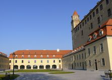 Cortile del castello Immagine Stock Libera da Diritti